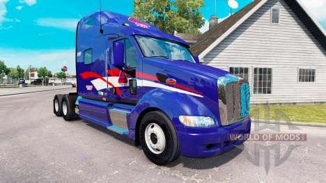 Скин B.T. INC. на тягач Peterbilt 387 для American Truck Simulator