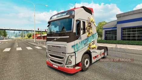 Скин Transformers на тягач Volvo для Euro Truck Simulator 2
