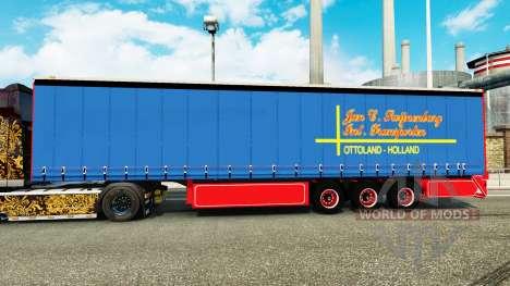 Шторно-бортовой полуприцеп January Swijnenburg для Euro Truck Simulator 2