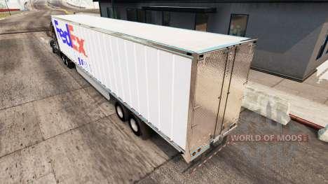 Скин FedEx на удлинённый полуприцеп для American Truck Simulator