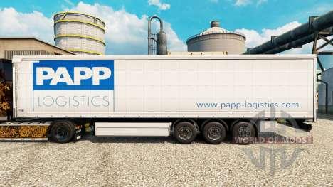 Скин Papp Logistics на полуприцепы для Euro Truck Simulator 2