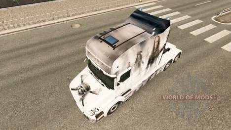 Скин Pirates на тягач Scania T для Euro Truck Simulator 2