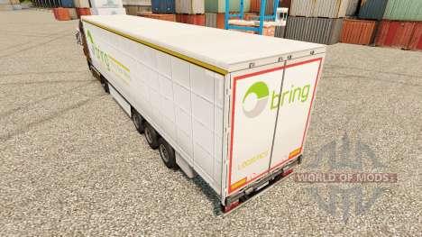 Скин Bring Logistics на полуприцепы для Euro Truck Simulator 2