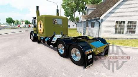 Скин WW2 Pinup на тягач Peterbilt 389 для American Truck Simulator