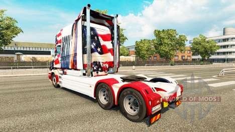 Скин Rocky USA на тягач Scania T для Euro Truck Simulator 2