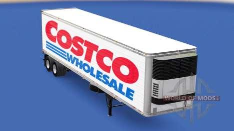 Скин Costco Wholesale на полуприцеп для American Truck Simulator