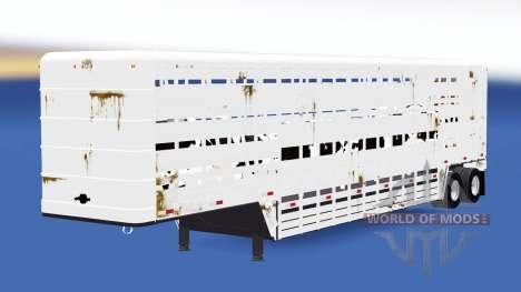 Полуприцеп-скотовоз Wilson для American Truck Simulator
