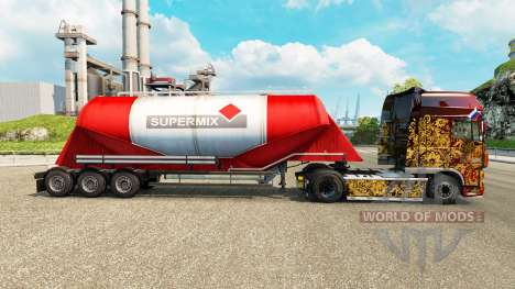 Скин Supermix на цементный полуприцеп для Euro Truck Simulator 2