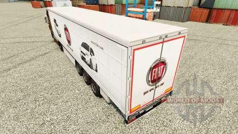 Скин Fiat на полуприцепы для Euro Truck Simulator 2