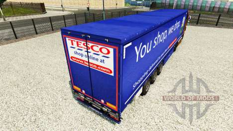 Скин Tesco на шторный полуприцеп для Euro Truck Simulator 2