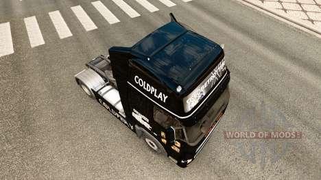 Скин Coldplay на тягач Volvo для Euro Truck Simulator 2