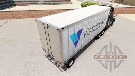 Скин Vistaprint на малый полуприцеп для American Truck Simulator
