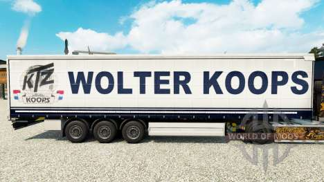 Скин Wolter Koops на шторный полуприцеп для Euro Truck Simulator 2