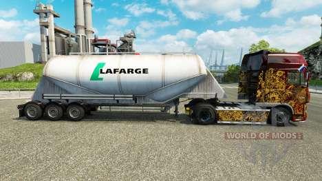 Скин Lafarge на цементный полуприцеп для Euro Truck Simulator 2