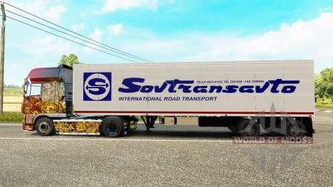 Полуприцеп-рефрижератор ОдАЗ 9786 Совтрансавто для Euro Truck Simulator 2