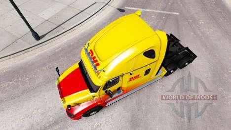 Скин DHL на тягач Freightliner Cascadia для American Truck Simulator