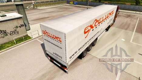 Скин Excellence Encomendas на полуприцепы для Euro Truck Simulator 2