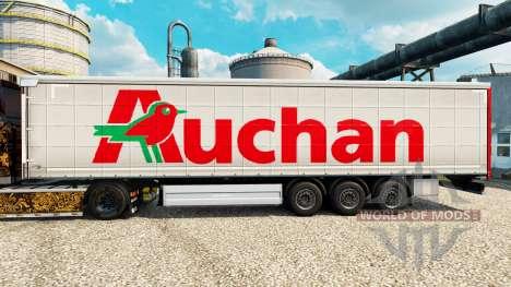 Скин Auchan на полуприцепы для Euro Truck Simulator 2