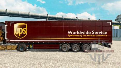 Скин United Parcel Service на полуприцепы для Euro Truck Simulator 2