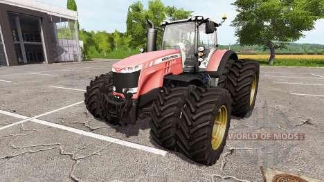 Massey Ferguson 8727 v1.1 для Farming Simulator 2017