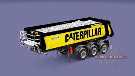Полуприцеп-самосвал Schmitz Caterpillar для Euro Truck Simulator 2