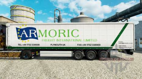 Скин Armoric Freight International на полуприцеп для Euro Truck Simulator 2