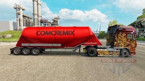 Скин Comcremix на цементный полуприцеп для Euro Truck Simulator 2