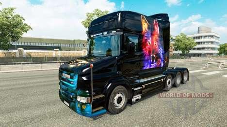Скин Wolf v2 на тягач Scania T для Euro Truck Simulator 2