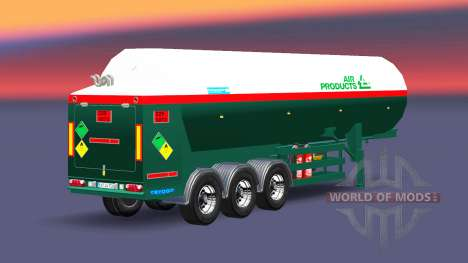 Полуприцеп-цистерна Air Products для Euro Truck Simulator 2