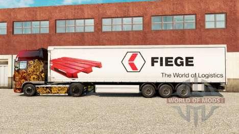 Скин Fiege на шторный полуприцеп для Euro Truck Simulator 2