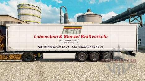 Скин LSK на полуприцепы для Euro Truck Simulator 2