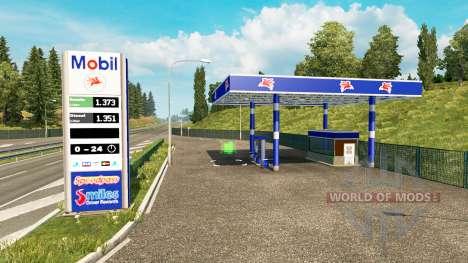 Реальные автозаправочные станции v0.3 для Euro Truck Simulator 2