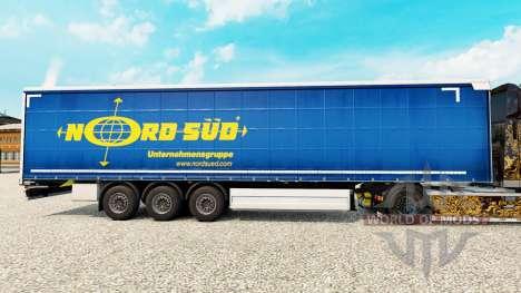 Скин NordSued на шторный полуприцеп для Euro Truck Simulator 2
