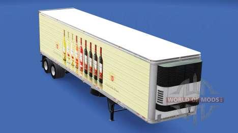 Скин E. & J. Gallo Winery на полуприцеп для American Truck Simulator