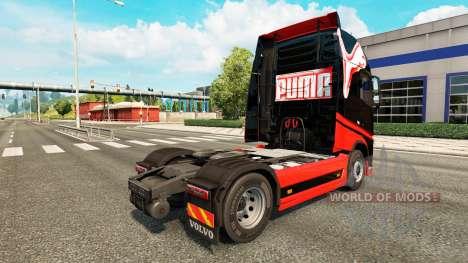 Скин Puma на тягач Volvo для Euro Truck Simulator 2