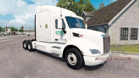 Скин Epes Transport на тягач Peterbilt 579 для American Truck Simulator