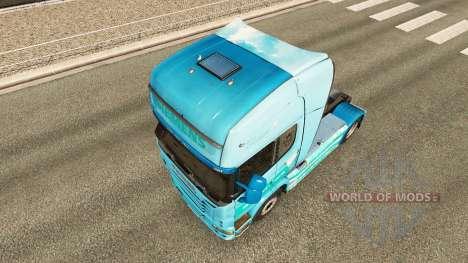 Скин Siemens на тягач Scania для Euro Truck Simulator 2