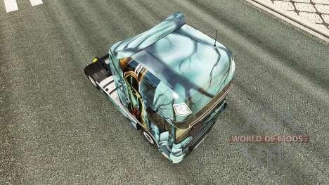 Скин Zombie на тягач DAF для Euro Truck Simulator 2