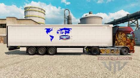 Скин Danone на полуприцепы для Euro Truck Simulator 2