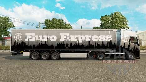 Скин Euro Express на полуприцепы для Euro Truck Simulator 2