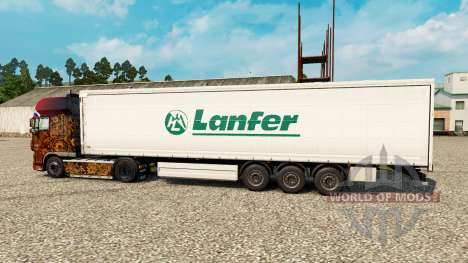 Скин Lanfer Logistics на полуприцепы для Euro Truck Simulator 2