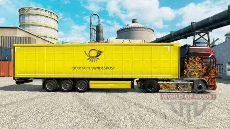 Скин Deutsche Bundespost на полуприцепы для Euro Truck Simulator 2