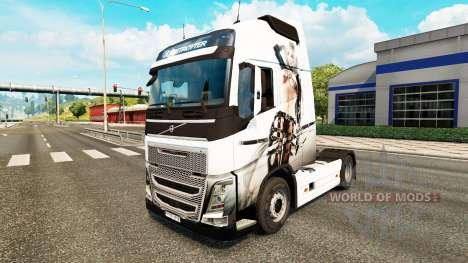Скин Sexy Fantasy на тягач Volvo для Euro Truck Simulator 2