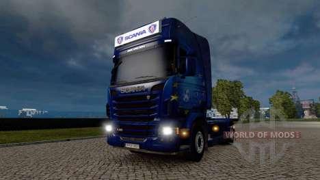 Рекламный световой короб для Scania для Euro Truck Simulator 2