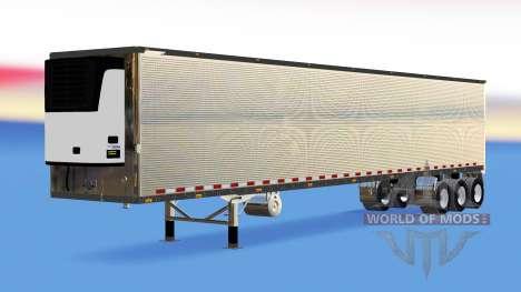 Хромированный полуприцеп-рефрижератор для American Truck Simulator