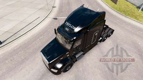 Скин Taylor Express на тягач Peterbilt 579 для American Truck Simulator