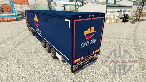 Скин Repsol v2 на полуприцепы для Euro Truck Simulator 2