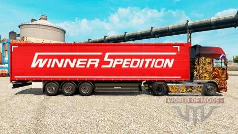 Скин Winner Spedition на полуприцепы для Euro Truck Simulator 2