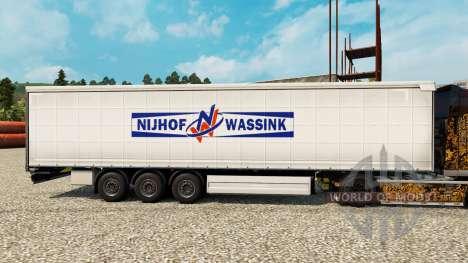 Скин Nijhof Wassink на полуприцепы для Euro Truck Simulator 2
