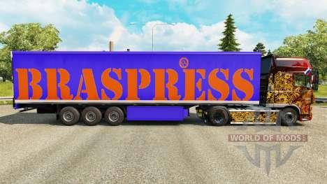 Скин Braspress на полуприцепы для Euro Truck Simulator 2
